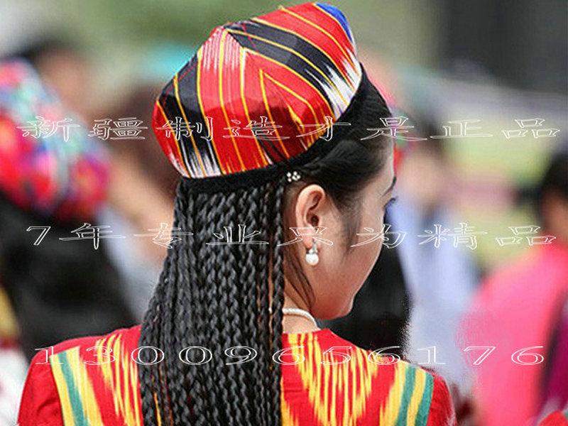 新疆舞蹈假发辫子演出头饰帽子辫子舞蹈头饰女性假发长发盘发辫子