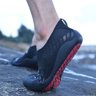 厚底五指溯溪户外沙灘鞋貼膚鞋涉水鞋男游泳鞋漂流鞋便攜鞋沙灘鞋