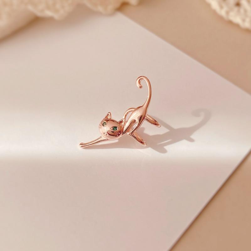 高级感耳夹法式耳骨夹无耳洞女耳廓精灵猫咪耳饰个性简约单只耳环图片