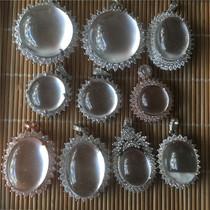 纯银水沫子饰品玻璃种戒指玉戒指耳钉套925七夕水沫玉冰种VISING