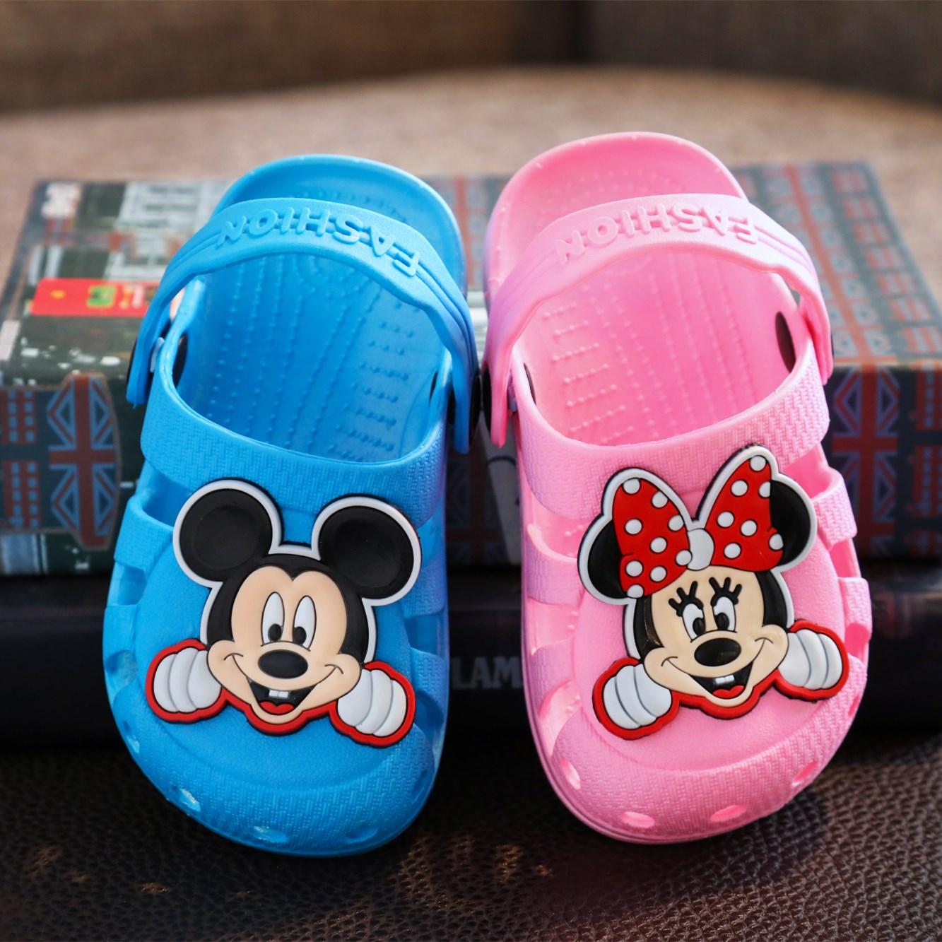 儿童凉拖鞋宝宝防滑软底洞洞鞋男女童沙滩塑胶鞋