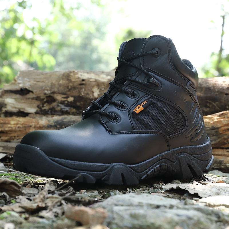 马丁鞋男夏季低帮沙漠鞋透气耐磨防滑减震三角洲作战鞋女特种军皮
