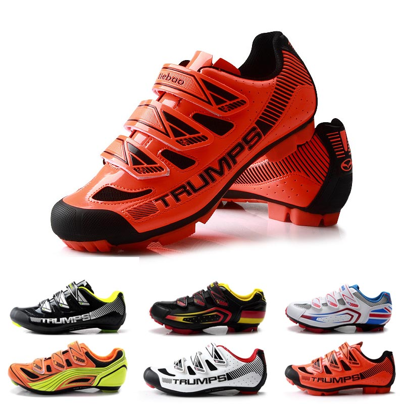 Iron leopard road bike riding shoes mountain bike self locking shoes mens and womens cycling professional breathable locking shoes