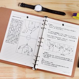 科比篮球训练战术本B5活页篮球课记事本裁判教练员笔记本周边礼物