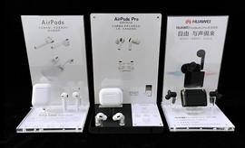 TWS华为蓝牙耳机展示架子 亚克力运动无线蓝牙耳麦耳塞支架通用