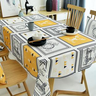 创意ins桌旗桌布tpu防水防油免洗防烫餐桌台布长方形家用茶几布艺图片