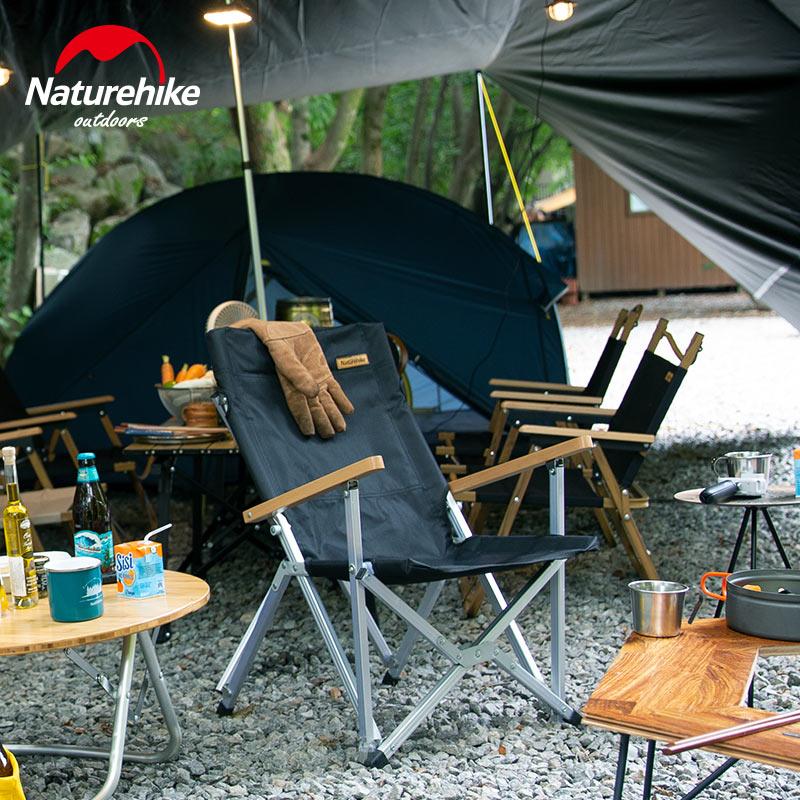 nh挪客便携式野餐烧烤收纳椅折叠椅