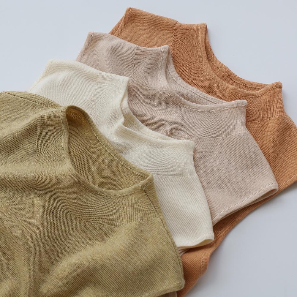 王牌工厂 色系发光 秋冬羊毛混纺针织背心半高领打底毛衣女装套头图片