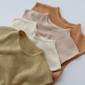 王牌工廠 色系發光 秋冬羊毛混紡針織背心半高領打底毛衣女裝套頭