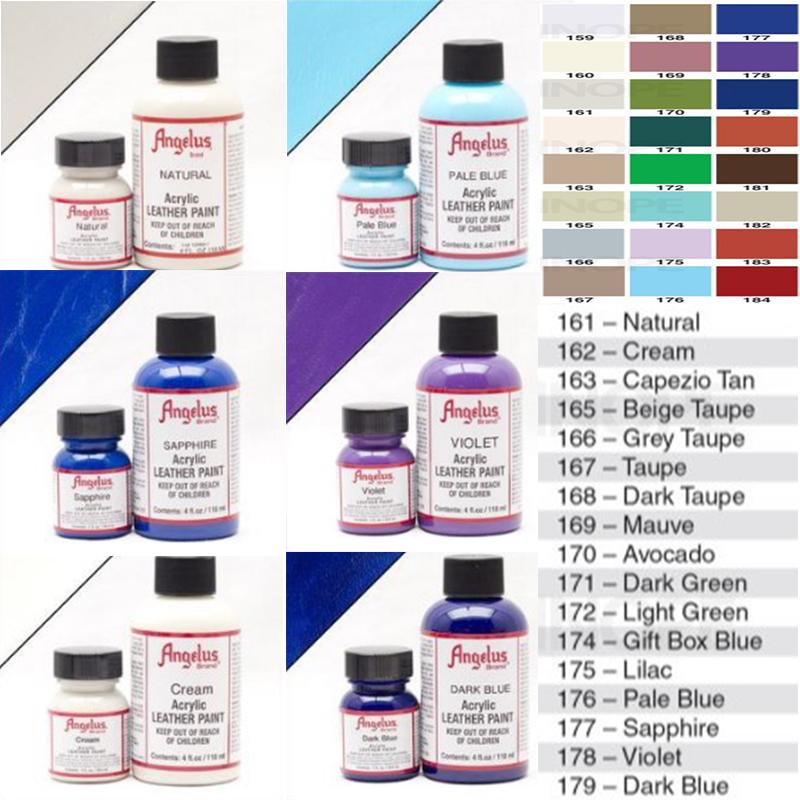 angelus安格鲁斯球鞋颜料改鞋丙烯酸喷绘皮革喷笔颜料分装上色diy图片