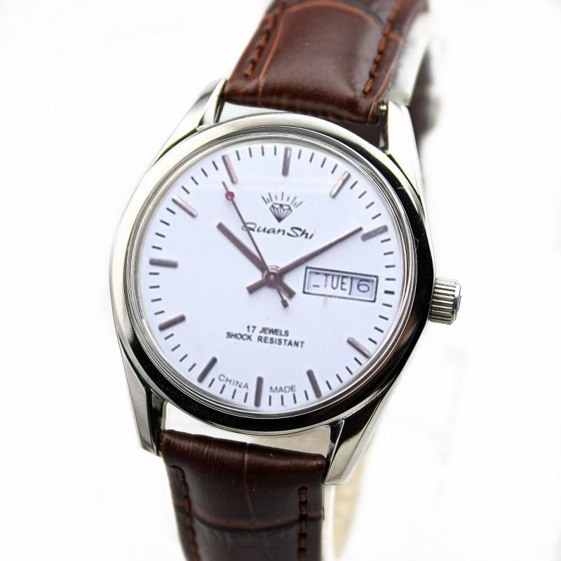上海钻石牌机械手表手动机械男女表复古怀旧库存老表经典时尚腕表