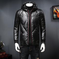 爆款大货 男士新款羽绒服短款黑色亮面白鸭绒羽绒服外套 811-P275