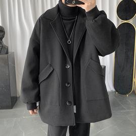 子俊男装2020冬季潮牌中长款毛呢大衣男士潮流暗黑系宽松呢子外套