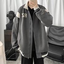 子俊男装春季超火的撞色夹克韩版潮男宽松拉链外套学生运动棒球服