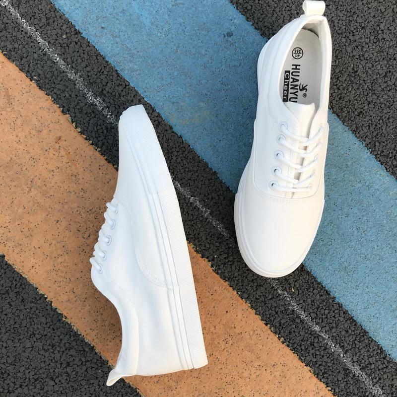 情侣款小白鞋男春夏季西装新款2021夏天板鞋韩版百搭一对潮帆布鞋