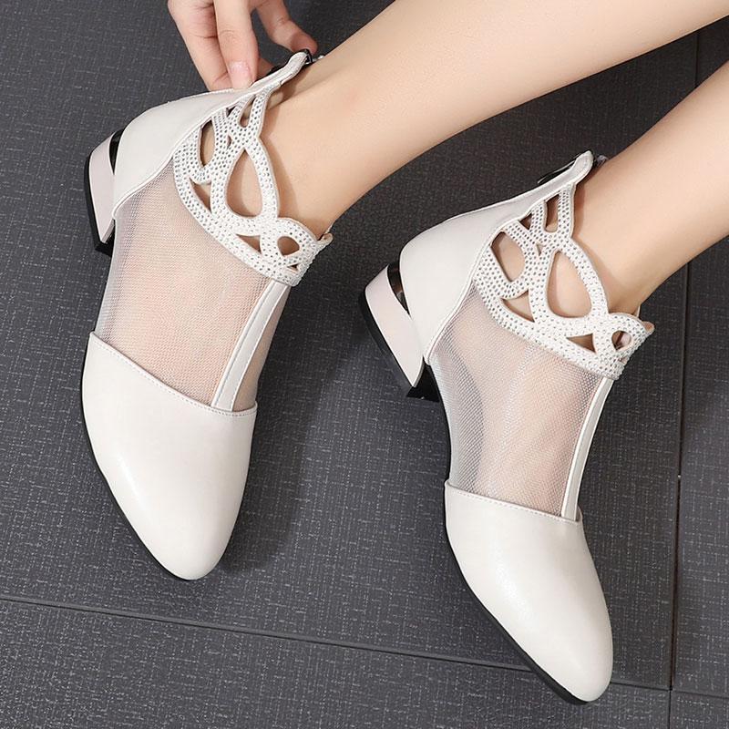 2021新款夏季网镂空凉鞋包头女鞋