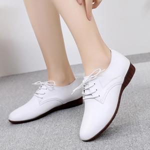 2021新款女鞋春秋鞋子真皮单鞋平底休闲百搭四季软皮鞋大码小白鞋