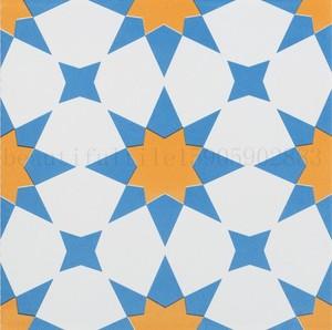 30橙蓝白色厨房卫生间餐厅阳台拼花砖防滑连锁奶茶咖啡店面墙地砖