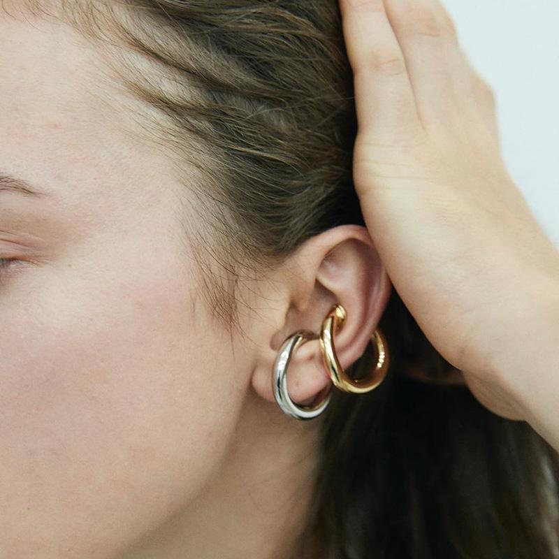 新品ins同款两用复古时尚大气圈圈耳夹无耳洞男女情侣款耳挂戒指