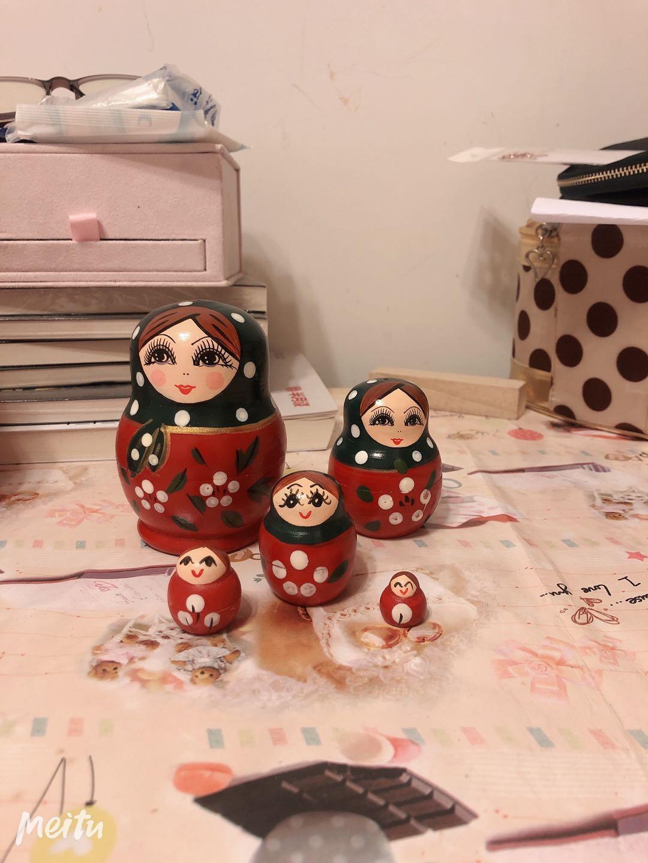 俄罗斯五层套娃 红色 中国红特价 销售 送礼佳品 带包装盒