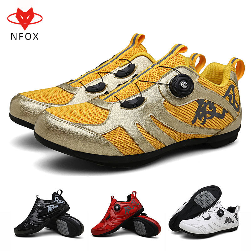Nfox / Nahu male and female amphibious road bicycle single lockless adult riding shoes black red yellow white dc-888