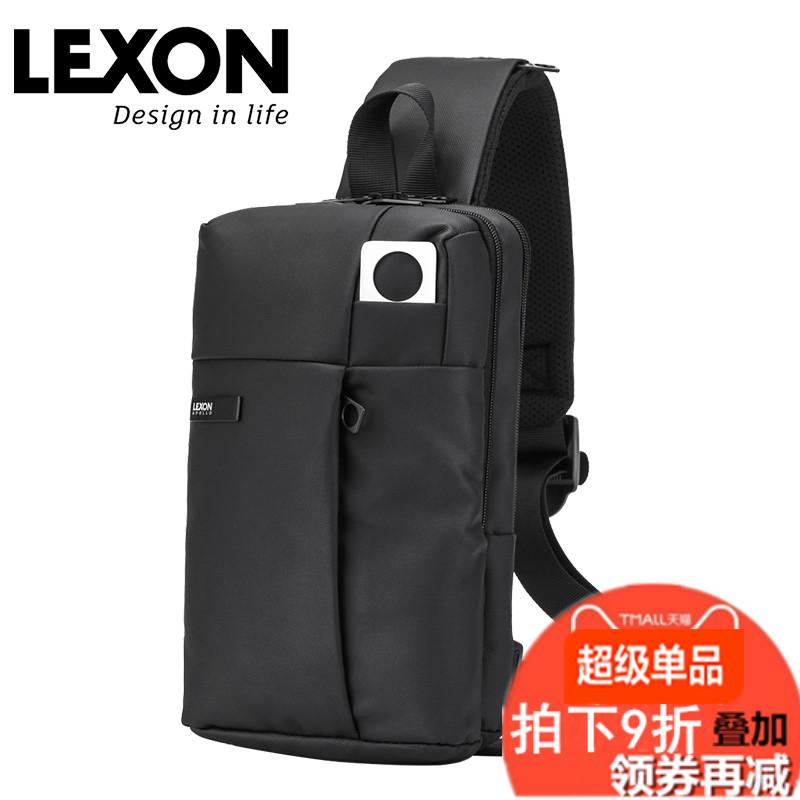乐上LEXON法国商务通勤男士单肩斜挎包双层简约胸包防水2020新款