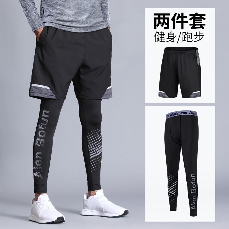Tights men's shorts quick-drying sports suit summer five-point training track and field fitness running compression basketball base