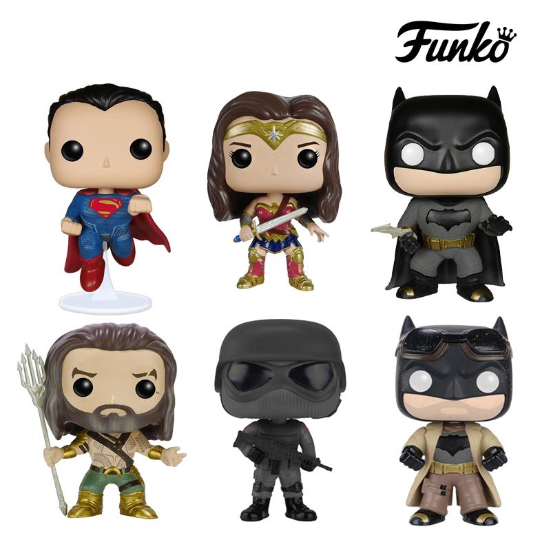 funko pop蝙蝠侠大战超人正义联盟神奇女侠公仔手办玩偶汽车摆件