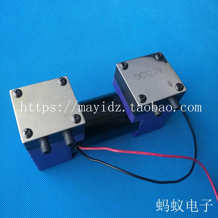 双头泵直流真空泵12V小型微型隔膜泵24V静音泵吸打气泵抽气泵220V