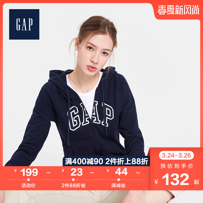 Gap女装徽标LOGO连帽衫春567761 2020新款休闲卫衣女柔软系列 thumbnail