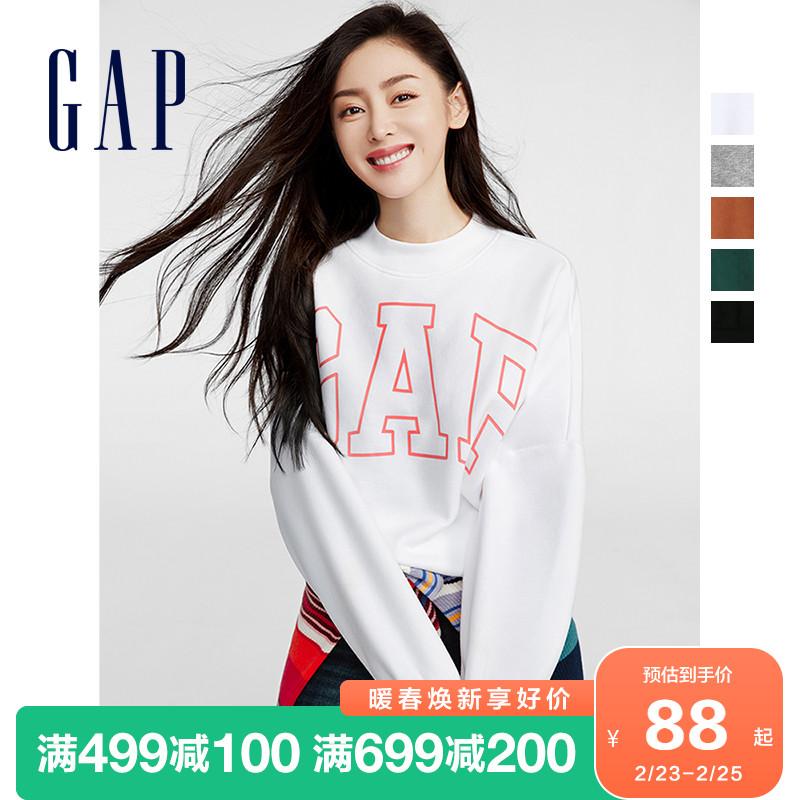 gap女装张天爱同款碳素软磨卫衣