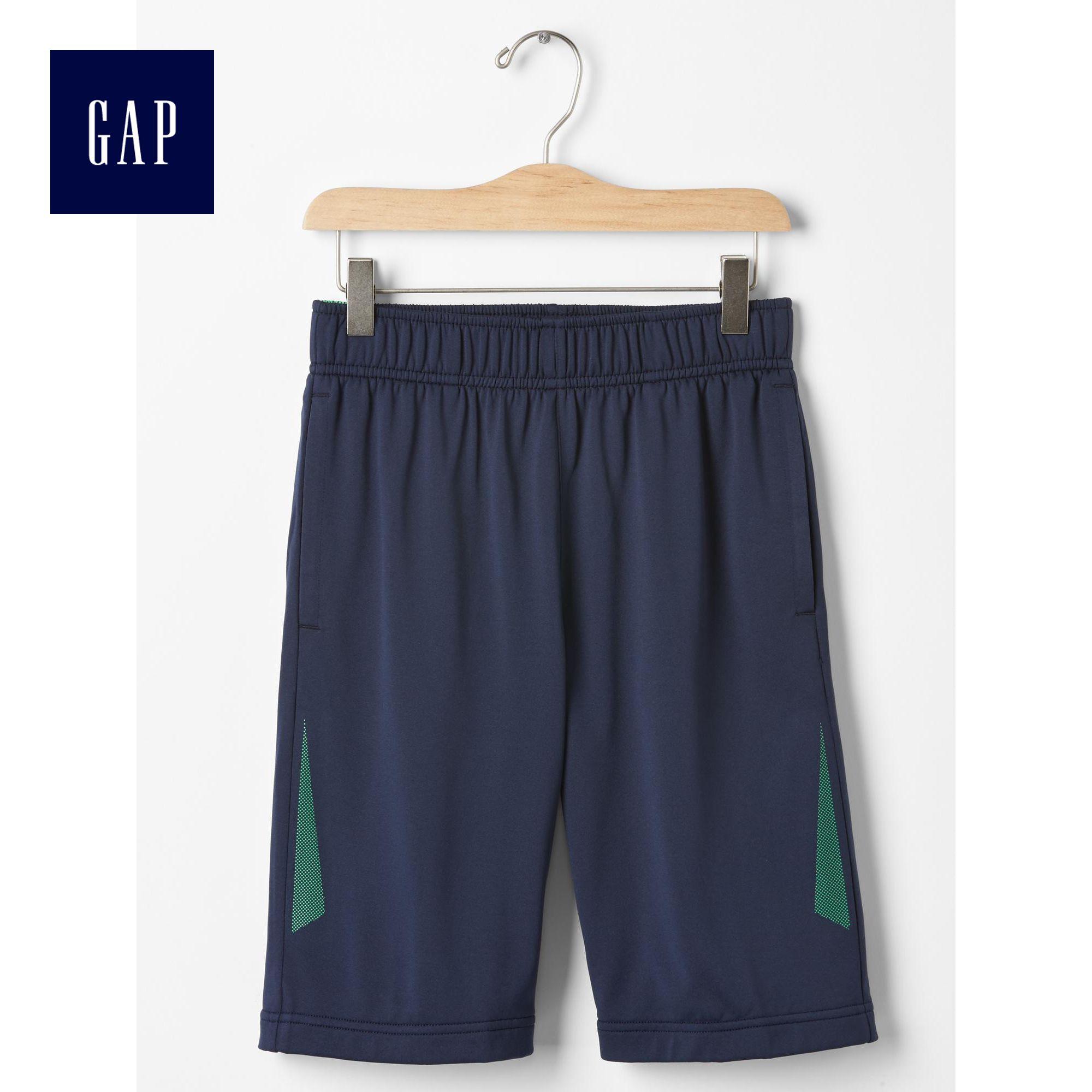 2件8折 Gap男童 GapFit活力風 褲 鬆緊腰舒適短褲 195603