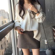 ins超火的半身裙春季女2020新款韩版毛呢短裙包臀一步裙高腰a字裙