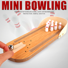 Children's mini bowling toy set early childhood education children's and boys' indoor table games