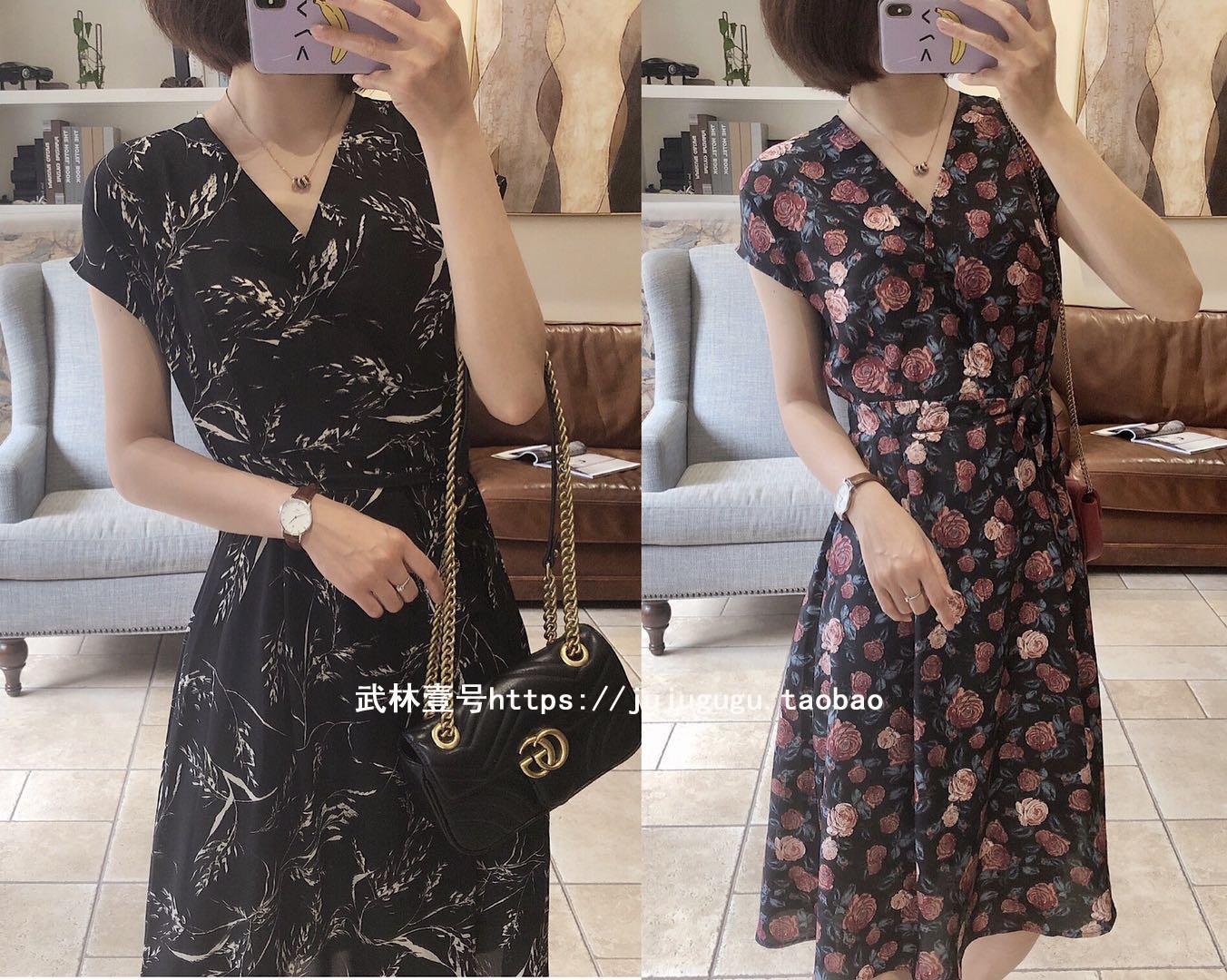 热销4件买三送一柜上2000+香港采购面料透气连衣裙