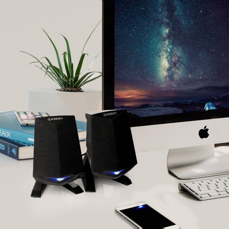 笔记本电脑音响台式机桌面迷你小音箱办公室家用型低音炮有线喇叭