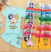 2017年可爱卡通小猪图案童套装 童装厂家直销
