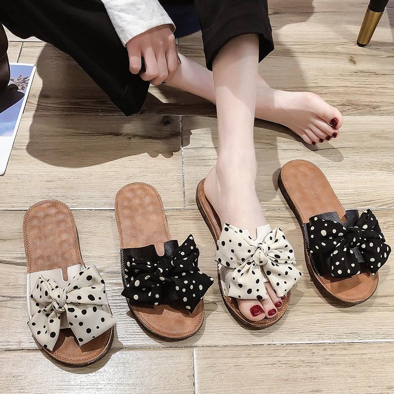 拖鞋女外穿ins潮2020年夏新款平底孕妇时尚网红百搭沙滩凉鞋凉拖图片