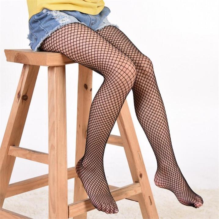 儿童网袜连裤袜夏季超薄款破洞明星同款渔网状女童打底网格网眼袜