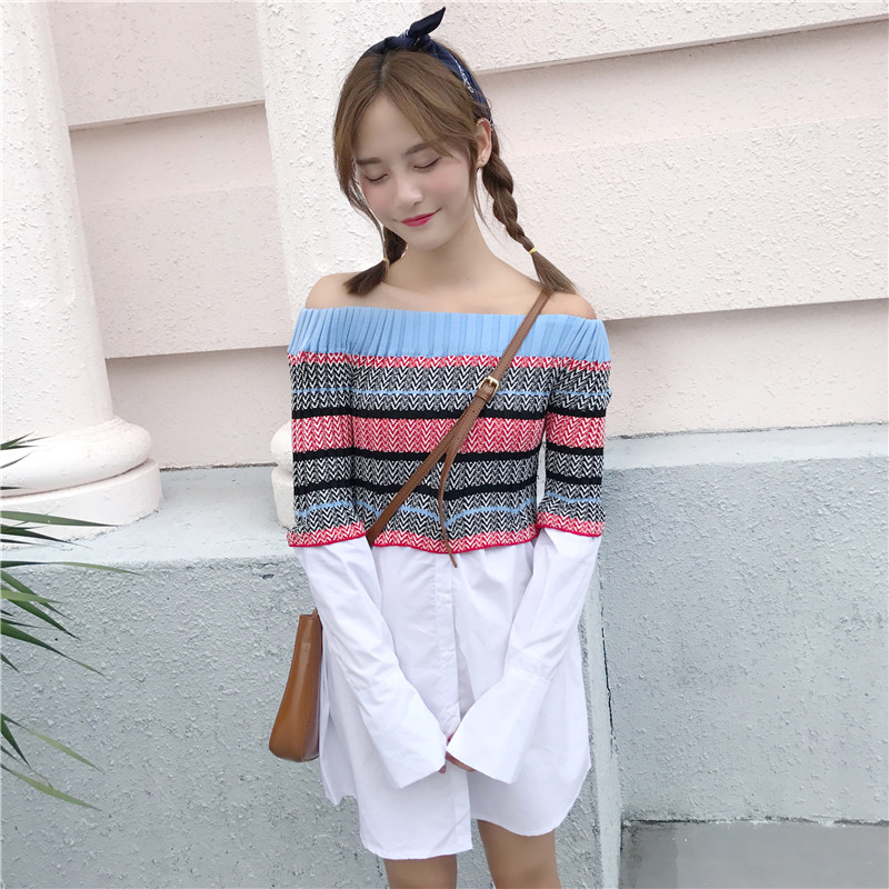 A New Long Sleeved Knitted Shi...