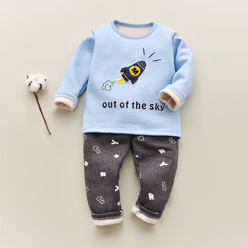 儿童保暖内衣套装加绒加厚冬季幼儿1-3岁宝宝秋衣秋裤男女孩小童5
