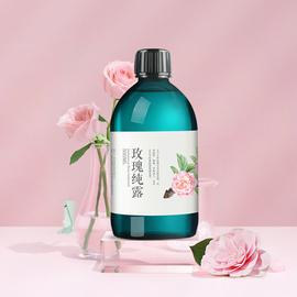羅梵大馬士革玫瑰純露500ml花水大瓶正品補水保濕玫瑰水濕敷提亮圖片