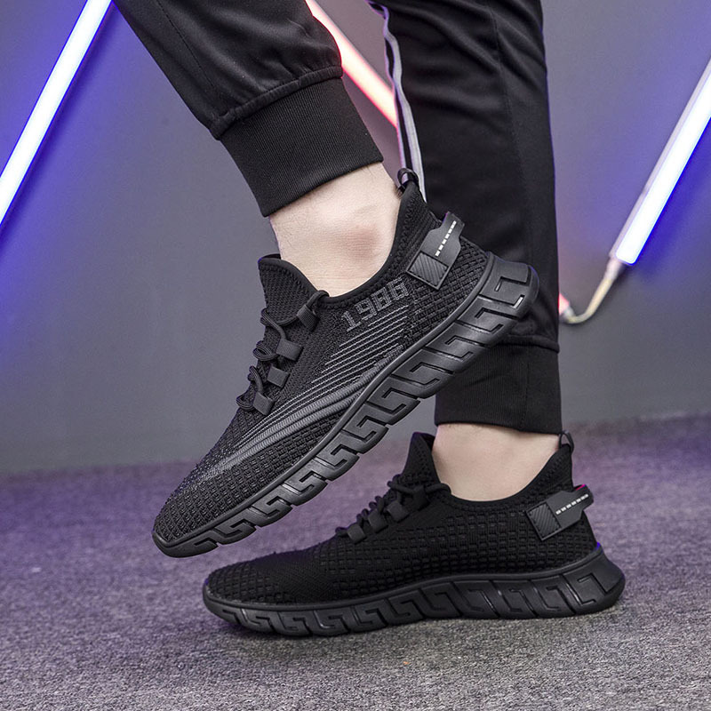 2020 new mens lightweight wear-resistant casual shoes mens sports shoes lace up student running shoes mens summer single shoes