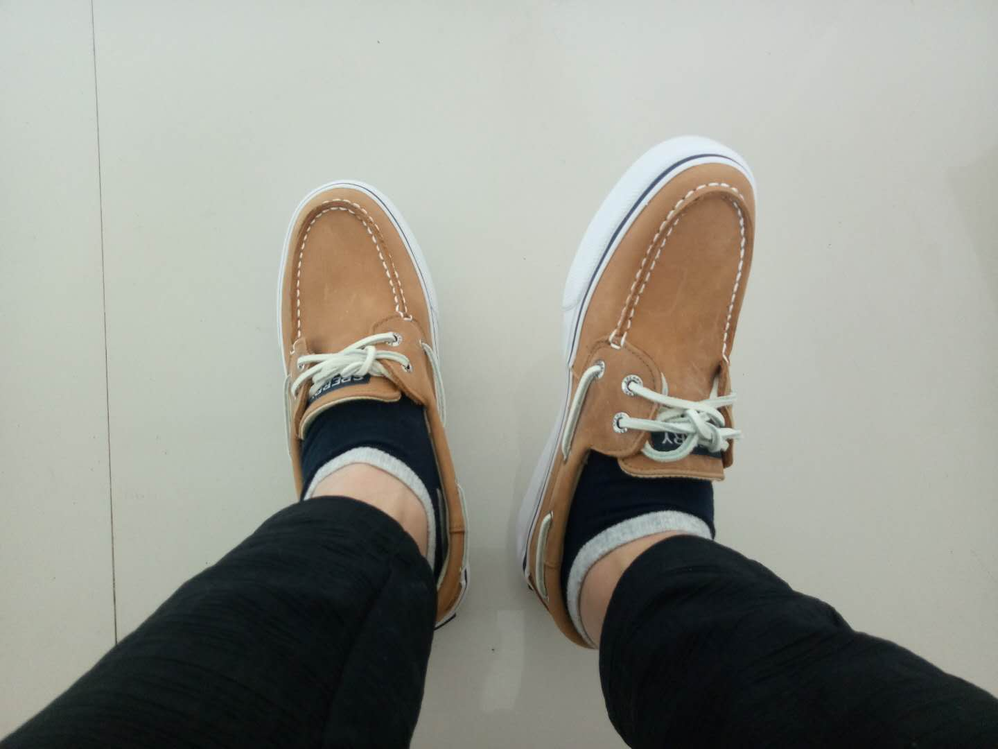 Sperry American tide brand cowhide sailing shoes British leisure low top fashion versatile round tie coconut sale