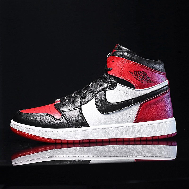 New aj1 mens shoes air force No.1 high top shoes Korean sports basketball womens shoes ajjo 1 Chicago Board Shoes
