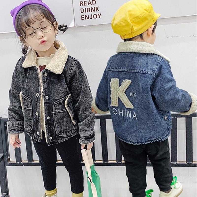 男女童外套2019秋冬新款童装韩版加绒加厚潮儿童保暖夹克宝宝上衣