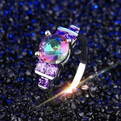 彩钻水晶皓石流行饰品女包邮戒指女气质欧美日韩版戒指环女首饰品