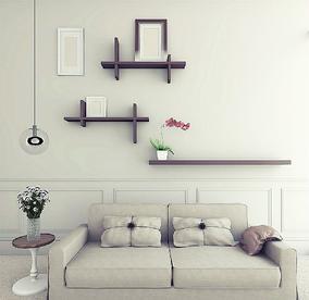 创意墙上一字电视背景墙壁挂墙架