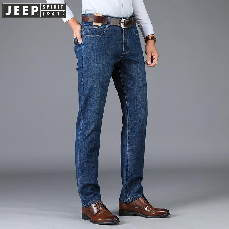美国吉普品牌男装专柜正品牛仔裤宽松大码商务休闲国际高端男裤子