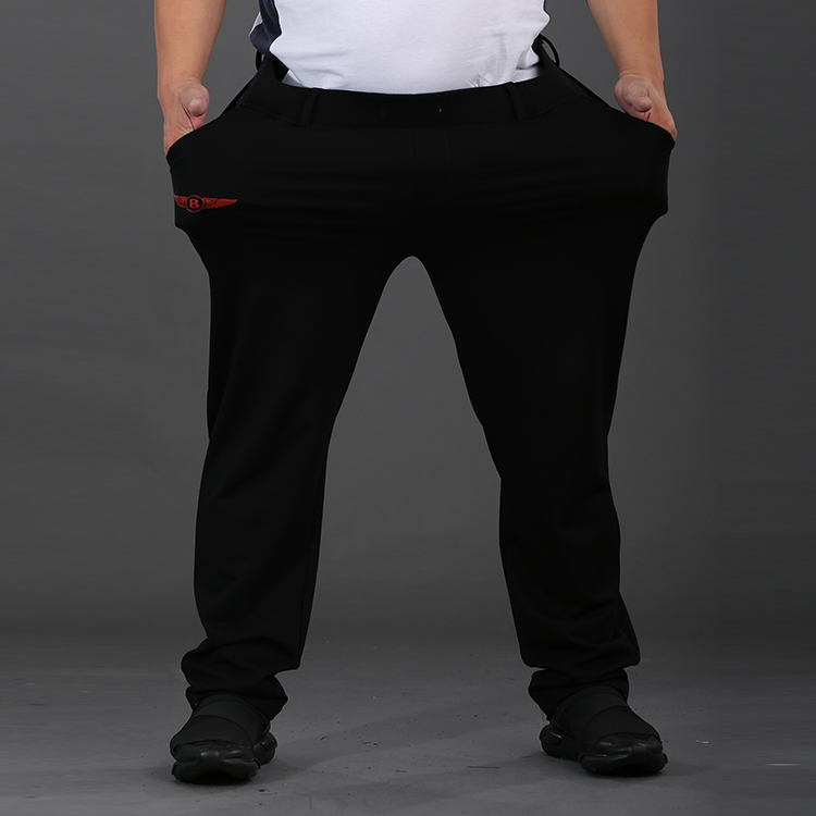 Manufacturer direct sales: Mens big size, fattening, fashion sports pants, fat mens casual pants in spring and autumn 2020